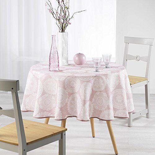 Charme et Douceur Charme & zachtheid tafelkleed, rond, 180 cm, Anais Rosa