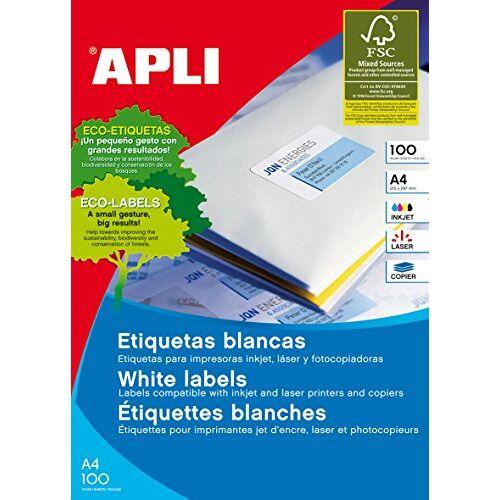 APLI 1290 Box bladen etiketten 70 x 67,7 mm