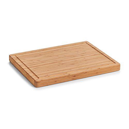 Zeller 25249 snijplank, bamboe snijplank, naturel, 46 x 35 x 3,5 cm