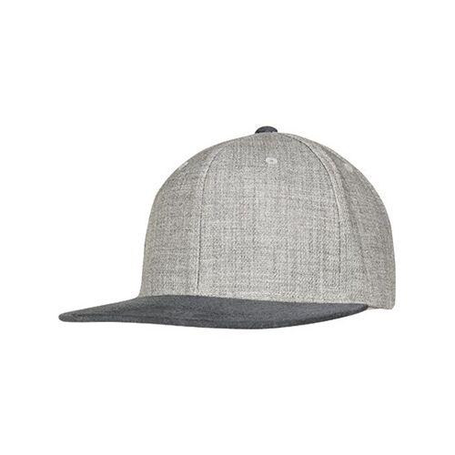 FLEXFIT FX6089VM Melange Velour Snapback - Grey, Grey - One Size