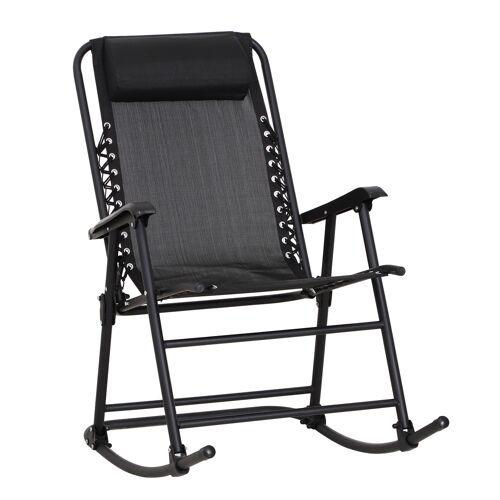 Outsunny Schommelstoel schommelbank schommelligbed schommelstoel inklapbaar tot 120 kg