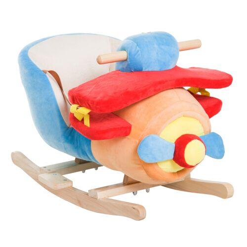 HOMCOM Kinderen schommelpaard muziek schommeldier schommel schommelspeelgoed vliegtuig