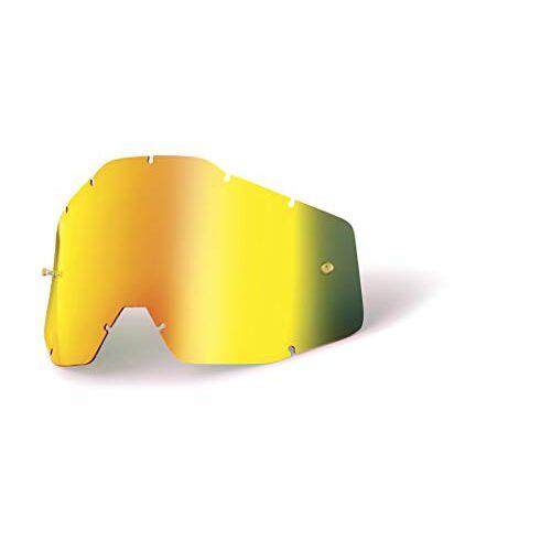 100% Acccuri/Strata Jongend- vervangende lens W/posts spiegel/smoke anti-mist, goud, maat één maat