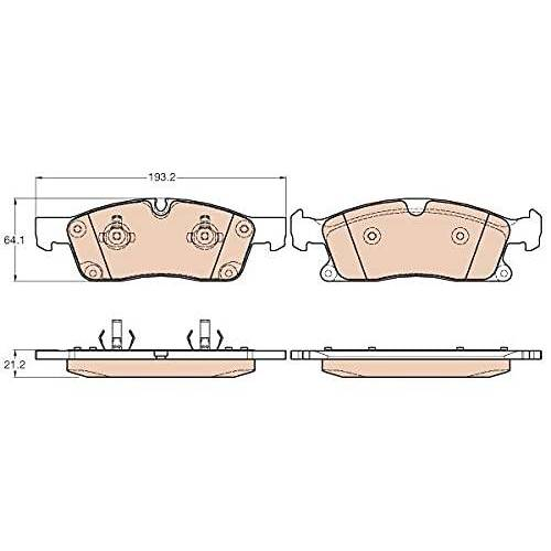 TRW Remblokkenset remblokken remblokken remblokken remmen origineel  (GDB1946)