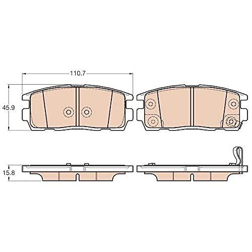 TRW Remblokkenset remblokken remblokken remblokken remmen origineel  (GDB3566)