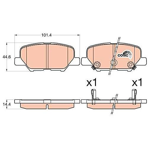 TRW Remblokkenset remblokken remblokken remblokken remmen origineel  (GDB3583)