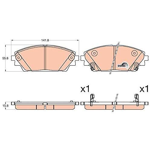 TRW Remblokkenset remblokken remblokken remblokken remmen origineel  (GDB3592)
