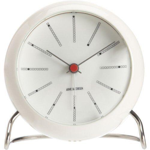 Arne Jacobsen Bankiers Table Clock Ø11 Cm Wit