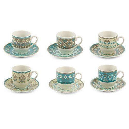 Tivoli Cala Jondal koffiemokken van porselein met schotel Oosterse 90 ml