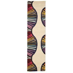 RugVista 80X300 Tapijtloper Vases Modern Beige/Donkerpaars