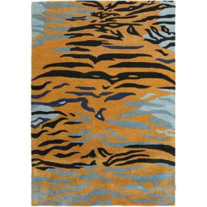 RugVista Love Tiger - Oranje / Grijs  tapijt 160x230 Modern Tapijt