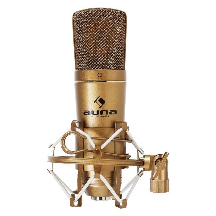 Auna CM600 USB-condensatormicrofoon brons studio nier AD-omv