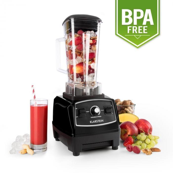 Klarstein Herakles-2G-B standmixer 1200W 2 liter Groen smoothie BPA-vrij