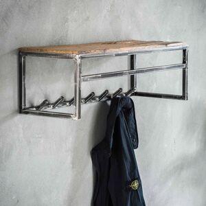 LUMZ Metalen wandkapstok met plank en roede