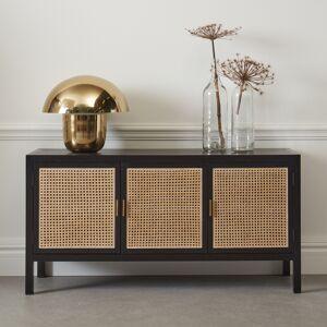 LUMZ Webbing dressoir zwart hout 150 cm 150x45x76cm