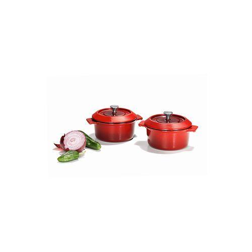 Woll Gietijzeren pannenset 'Iron', Mini-braadpan met deksel, set van 2