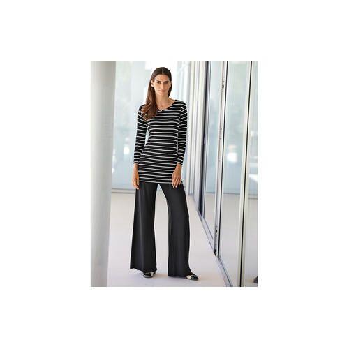 Yala® shirt of broek van bamboe, shirt van bamboe - 38/40 - zwart/wit