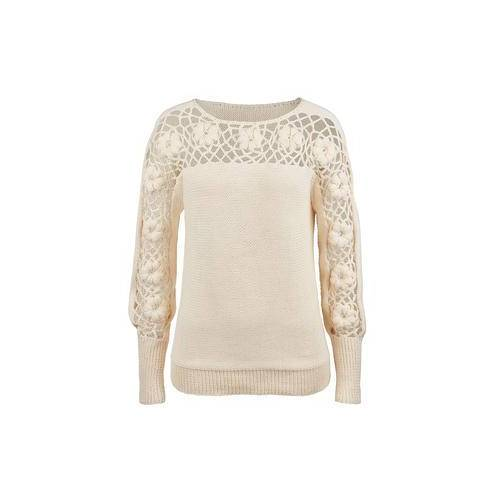 Direct leverbaar Eribé trui met bloemmotief, 38 - wit
