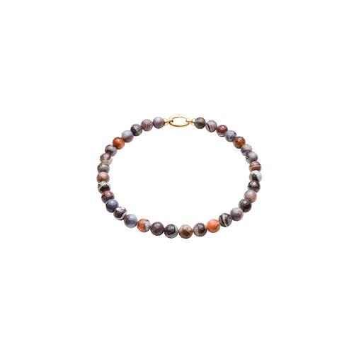 Direct leverbaar Collier of Armband van Botswana-agaten, collier