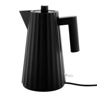Alessi Waterkoker Plissé, zwart