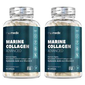 maxmedix Marine Collagen Advanced - met hyaluronzuur en CO-Q10 voor een perfecte huid - 2-pack