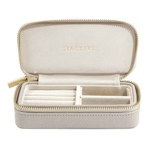 Stackers Mid-size Travel Box Taupe & Grey Sieradenkoffer