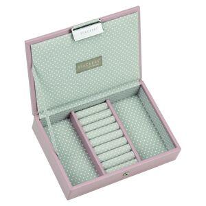 Stackers Mini Lidded Soft Pink & Grey Polka Sieradenkoffer