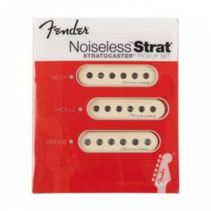 Fender Vintage Noiseless Stratocaster Pickups, Aged White (set)