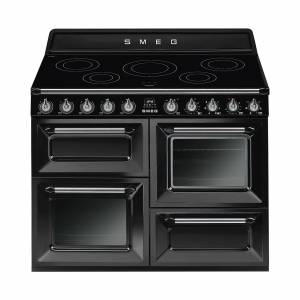 SMEG TR4110I kookcentrum met inductiekookplaat - zwart/gelakt/110x104,5x60cm bxhxd
