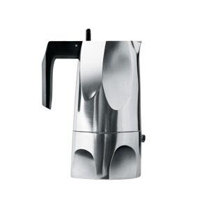 Alessi Ossidiana - Koffiepot Espresso groot - aluminium/Handvat en knop in thermoplastische hars/max. capaciteit 30 cl