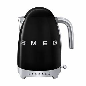 SMEG KLF04 waterkoker variabele temperatuur 1,7L - zwart/gelakt/BxHxD 22,3x28x17,1cm/50°C - 100°C
