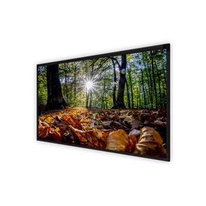 DELUXX Cinema Frame Elegance projectiescherm 250 x 140 cm, mat wit Varico Diamond