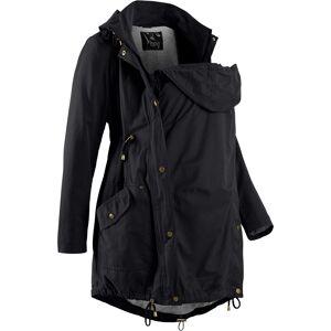 bonprix Dames zwangerschapsparka / draagjas met jersey voering lange mouw in zwart - bonprix