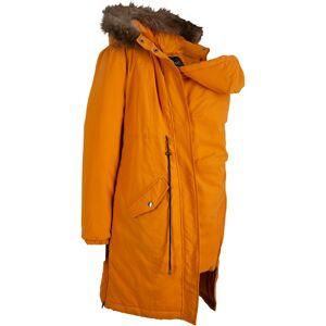 bonprix Dames gewatteerde zwangerschapsparka / draagjas lange mouw in oranje - bonprix