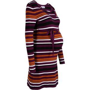 bonprix Dames gebreide zwangerschapsjurk / voedingsjurk lange mouw in paars - bonprix