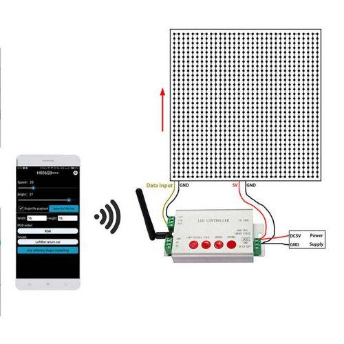Digitale LED Strip Controller programmeerbaar WiFi