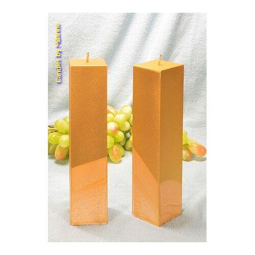 Candles by Milanne Kwadrant kaarsen GOUD, hoogte 22 cm, 2 STUKS - kaarsen