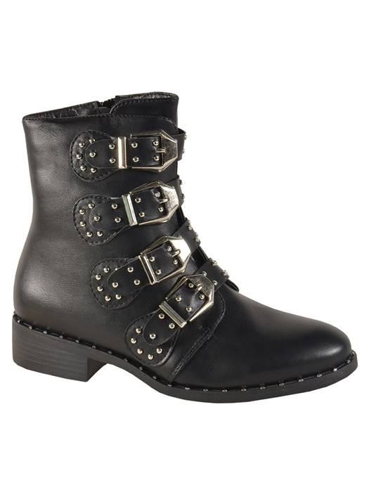 Image of Fashionize Buckle & Studs Booties