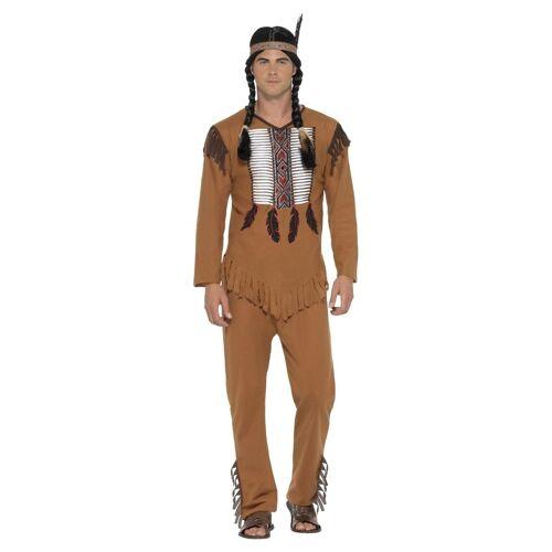 Feestbazaar Inheemse Amerikaanse Indiaan kostuum man