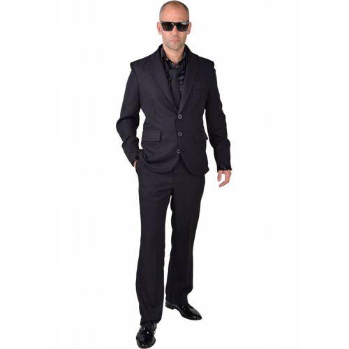 Feestbazaar Zwart kostuum man blues