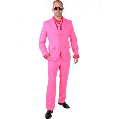 Feestbazaar Pink kostuum man blues