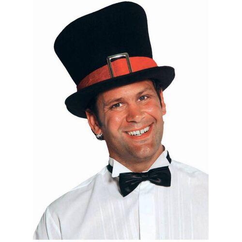 Feestbazaar Hoge hoed met rode rand luxe