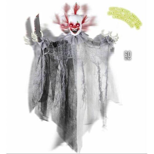 Feestbazaar Animatie Killer Clown met licht en geluid