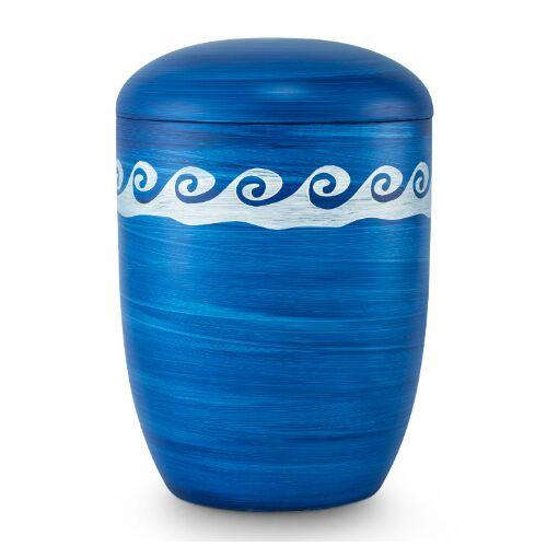 Biologische Eco urn: Oceaan blauw met golven