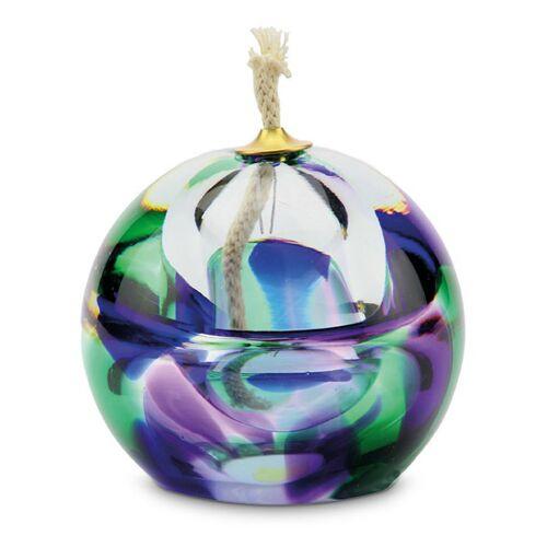 Urn met olielamp en kleine askamer: purple/green/blue (80ml)