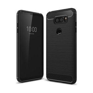 LG V30 / V30S Geborsteld TPU Hoesje Zwart