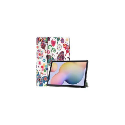Samsung Galaxy Tab S7 Plus Hoesje Tri-Fold Bloemen en Planten Print