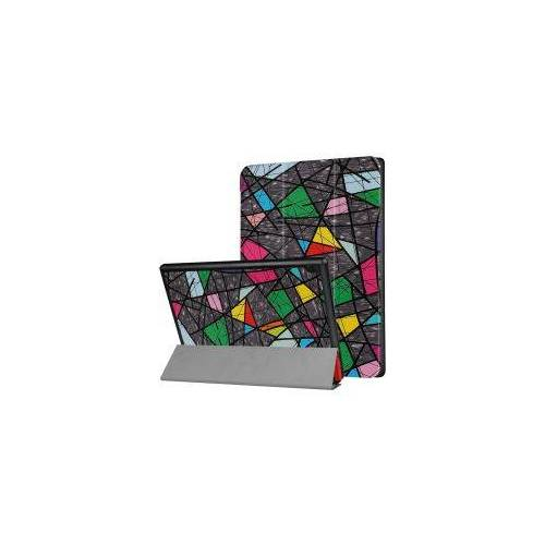 Lenovo Tab 4 10 Hoesje Tri-Fold Book Case met Geometrie Print