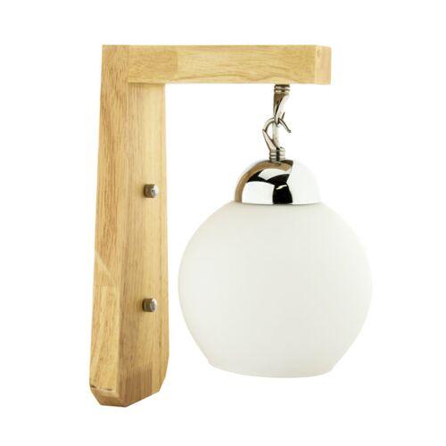 Groenovatie Vintage Wandlamp Hout Design Met Glazen Lampenkap