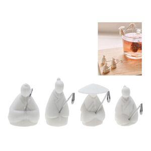 Kikkerland set van 4 theezakje houders Tea Fishermen